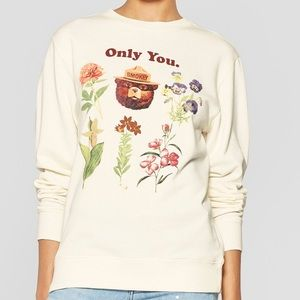 SMOKEY THE BEAR | Floral Crewneck Sweater | NWOT